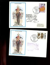 ROYAL MARINES - (2 ) ENVELOPES   - EUROPALIA 73  Brussels Tattoo