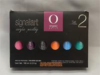Organic Nails 6 Pack Pintura Acrilica Signailart Set 2/ TWO. 30 ml each 1 fl OZ.
