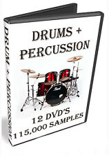 DRUMS + PERCUSSION - PROPELLERHEADS REASON REFILL - 12 DVD'S - 115,000 SAMPLES