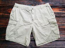 Columbia Sportswear Men's Cream Cargo Shorts Size 40 Camping Hiking Fishing