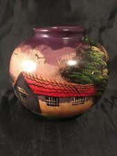 Circular Vase G Morit Hand Painted