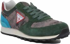 Guess Fm6Chafal12 A-Charlie Lace Up Casual Trainer In Green Size Uk 6 - 12