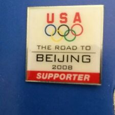 2008 USA Olympic Road to Beijing Supporter Hat Lapel Pin Tie Tack Pinback NEW