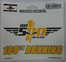 2016 Indianapolis 500 100TH Anniversary Event Collector Decal