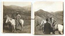 1905 President Theodore Roosevelt Stereoview Photos on Horseback by HC White