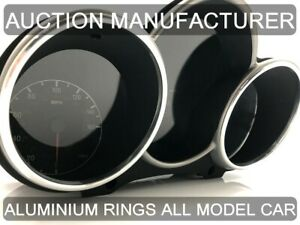 For Alfa Romeo GT 147 00-05 Dash Instrument Chrome Rings Polished Aluminium 2pcs