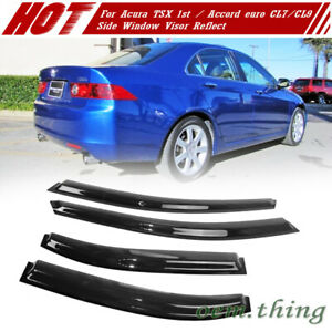 Fit FOR Acura TSX 1st / Honda Accord Euro CL7 CL9 Sedan Window Visor Reflect 07