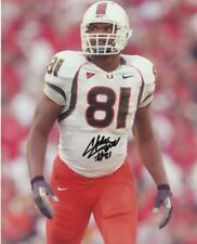 Calais Campbell Miami Hurricanes Special Signed Autographed 8X10 Photo W/Coa