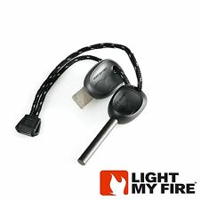 FireSteel Scout 2.0 Light My Fire Steel Black Starter 3k Strikes w/ Whistle