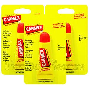 3 x Carmex Classic Lip balm Tube Original Moisturising Dry lips 10g/0.35oz USA