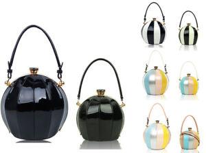 Shiny Ball Shape Patent Leather Hardcase Shoulder Bag Clutch handbag For Ladies