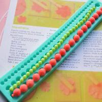 Silicone Mold Cake Decor Pearl String Beads Fondant Sugarcraft Baking Mould GI8