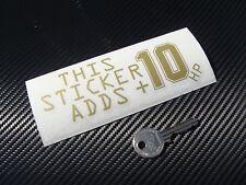 sticker boost +10hp JDM MAIN 13cm Or Decals Aufkleber Pegatinas auto B46-930