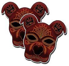 "SUGAR SKULLSTICKERS Pitbull Day of the Dead Dia de los Muertos 5"" 2 pack DECALS"