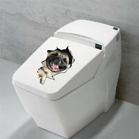3D Vivid Dogs Cats Wall Stickers Bathroom Toilet Stickers Room Decal Vinyl 14110