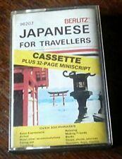 Japanese For Travellers Audio Cassette + Miniscript *Berlitz