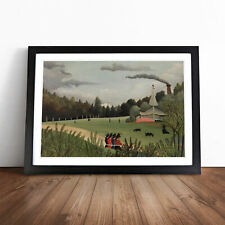 More details for landscape and four young girls by henri rousseau wall art framed print picture