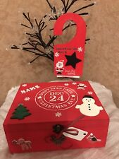 Christmas Eve Box Wooden Personalised Filled