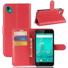 Cover Wallet Premium Red for Wiko Sunny 2 Plus Case Cover Pouch Protection NEW