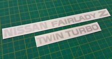 Nissan Fairlady Z Twin Turbo JDM rear hatch decals stickers 300ZX Z32 TT