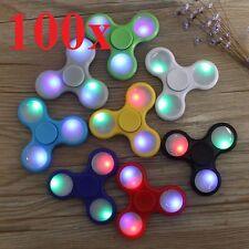 wholesale LOT 100X led HAND SPINNER TRI FIDGETs STEEL BALL TOY EDC FINGER GYRO 0