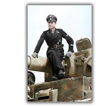 "War Photo Michael Wittmann famous German tank commander Size ""4 x 6"" inch Q"