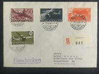 1960 Schaan Liechtenstein cover to Langenthal # C34-C37 Airmail Comp Set