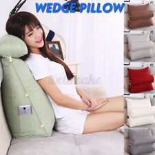 Adjustable Wedge Pillow Sofa Bed Office Seat Chair Rest Neck Back Support Relief