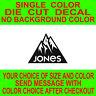 Jones Snowboard, die cut vinyl decal, car truck window laptop sticker