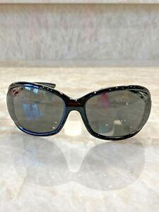 TOM FORD Shiny Black JENNIFER Sunglasses w Black Lenses- Excellent Condition