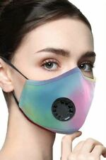Cycling Face Mask Breathable Washable Multicolor Tie Dye Ships from USA