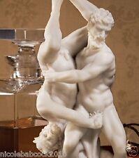 ANCIENT GREEK SCULPTURE FAMOUSE MUSEUM REPLICA HERCULES & MAN EATING HORSES