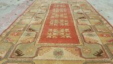 Masterpiece 1960-1980s Vintage 4'x6'8'&#0 39; Wool Pile Decorative Ushak Rug