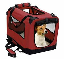 2Pet Foldable Dog Crate - Soft, Easy to Fold & Carry Medium 24in Rawhide Red