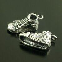 38640 Antique Silver Tone Alloy Sport Shoes Charms Pendant Jewelry 22PCS