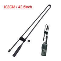 Abbree Fodable Antenna SMA-Female Dual Band For Baofeng UV-5R/82 Two Way Radio