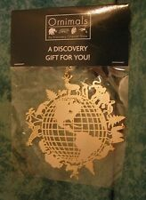 DISCOVERY CHANNEL STORE ORNIMALS~2001~ANIMALS AROUND EARTH METAL ORNAMENT~NIOP