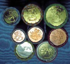 8 Rouleaux FINLANDE 1c - 2 euro Rare 2003
