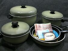 Nordic Ware Gourmet's Set Pots Pans Avocado Green in Original Box MCM NOS RARE