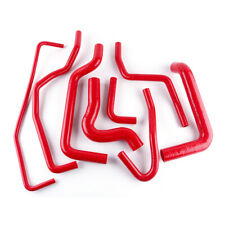For FIAT COUPE 1996 1997 1998 1999 2000 20 20V SILICONE RADIATOR HOSE KIT RED