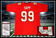 WARREN SAPP autographed signed BUCCANEERS red jersey JSA coa