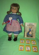 American Girl Pleasant Company Kirsten Doll---Meet Outfit Dress, Shoes, Book