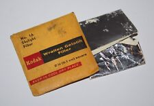 "Kodak - No 1A Skylight Wratten Gelatin Filter - 2"" / 5.1cm Square - vgc"