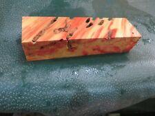 FF- FLAME BOX ELDER BURL  DELUXE KNIFE BLOCK/SCALES/ CALLS/ PEN BLANKS--F--52
