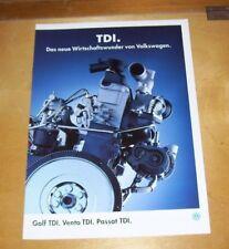 VOLKSWAGEN TDI DIESEL ENGINE SALES BROCHURE GOLF TDI VENTO TDI PASSAT TDI 1994