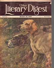 1930 Literary Digest October 25 - Pointer and Setter see the bird