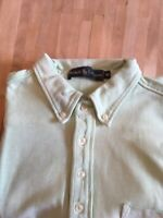 Ralph Lauren Mens Polo Shirt Long Sleeve Light Green Size M Excellent Condition