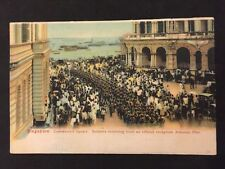 Vintage Postcard - WW1 Military #52 - Singapore, Soldiers Return @ Johnson Pier