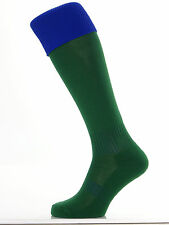 1 Pr Mens Football/Rugby/Hockey Socks (Large) Green & Royal Tops UK Size 7-11