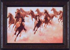 RUN FOR FUN by Jim Rey 16x22 FRAMED ART Print HORSE Running HORSES Sepia Picture